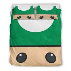 127-BED Mario Green And Brown-Duvet Covers - Bedding Sets